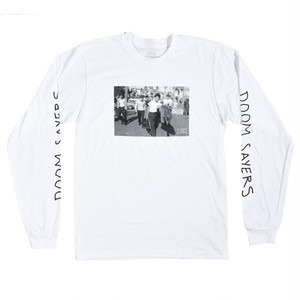 DOOM SAYERS / APPROACH L/S TEE / WHITE / M