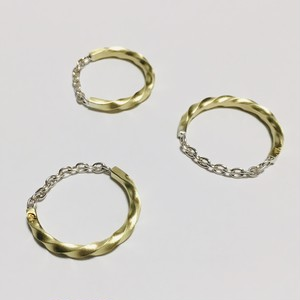 twilo chain ring Brass×Silver M2