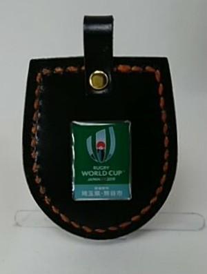 ピンバッチ取付け用ホルダー(艶黒×オレンジ)