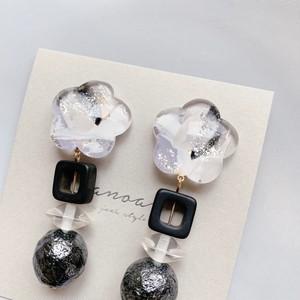 """ Earrings NO.danoan-59″ ランダムペイント×イタリアビーズ"