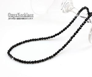 【メンズ・ユニセックス】ブラックオニキスネックレス Lサイズ