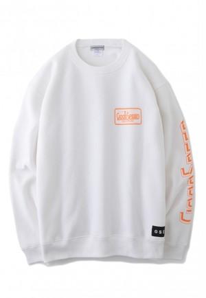 GOODSPEED equipment EVILACT(イーブルアクト) Official Logo sweat shirts (white)