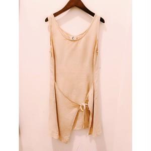 """""""vintage linen apron motif one-piece"""""""