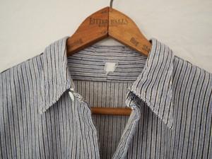 French Vintage grandpa shirt multi stripe