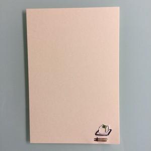 刺繍ポストカード(とうふ)