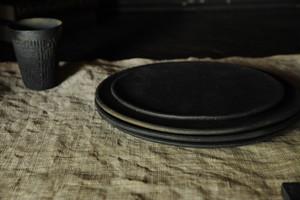 0636 フルカゲンゴ 南蛮 墨 7寸皿