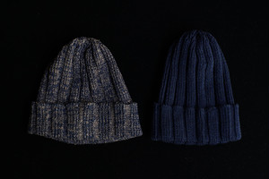 RoToTo / INDIGO&LINEN KNIT CAP