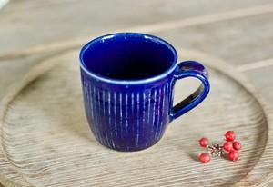 瑠璃釉マグカップ(鎬)