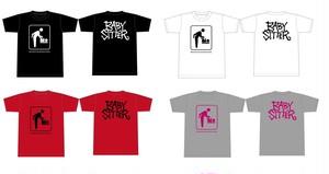 BABY SITTER Tシャツ(白/赤/グレー)
