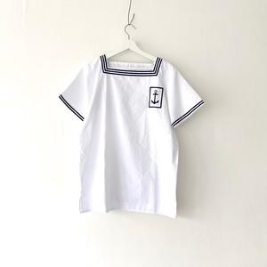 "FRANCE""MARINE NATIONAL""square neck sailor P/O shirt 96-100"