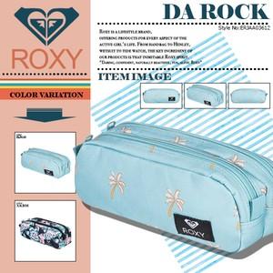 ERJAA03612 ロキシー ペンケース ポーチ レディース 通学 入学 新作 小物入れ 選べる2カラー 水色 花柄 DA ROCK ROXY