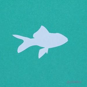 カット済みプラバン(レジン用プレート) 金魚