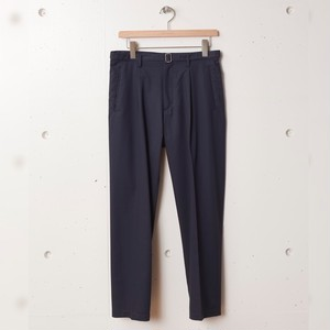 tilt The authentics / Belted 1Tuck Light Trousers[DULL NAVY]