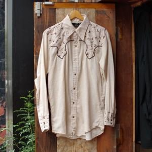 1970s SEARS Western Shirt / ウエスタン シャツ 小花柄&ガーゼ生地