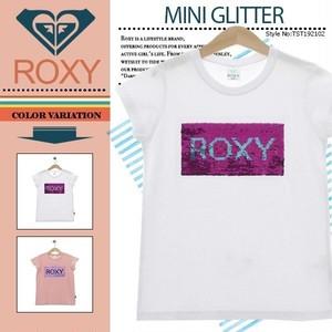 TST192102 ロキシー 訳アリ商品 Tシャツ キッズ ホワイト 白 140 かわいい プレゼント ビーチ リゾート アウトドア 人気ブランド MINI GLITTER ROXY