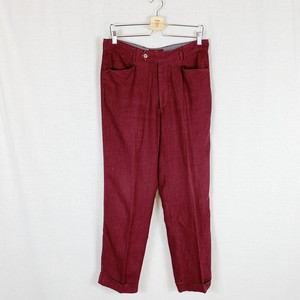 """Old """"ETRO"""" Linen Slacks red made in ITALY"""