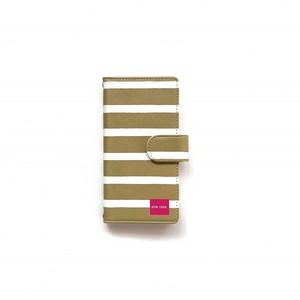 北欧デザイン iPhone手帳型ケース  | maroon stripe