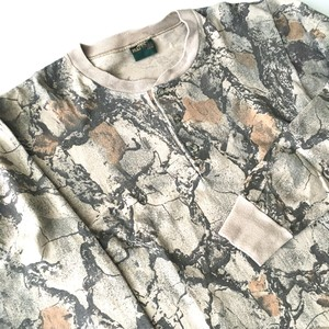 NATURAL®︎ GEAR :   camouflage henry neck C&S (used)