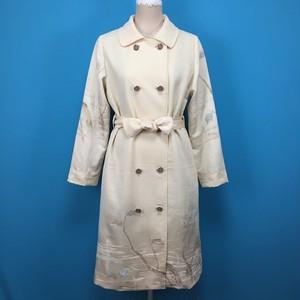 Vintage silk kimono, white, コート