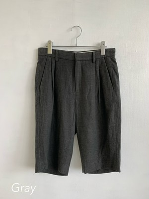 EARIH  LINEN HALF TAPERED PANTS