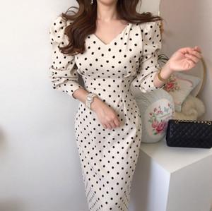 rétro dot  dress 2color