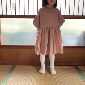 【受注生産】120-140cmぼんぼり袖のワンピース