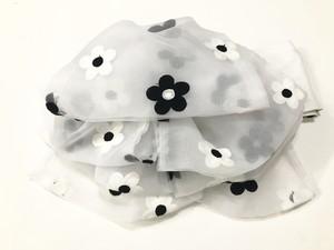 お花刺繍のふわふわ帯【作り帯】