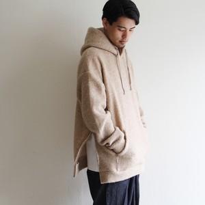 is-ness【 mens 】wool pile sweat hoodie