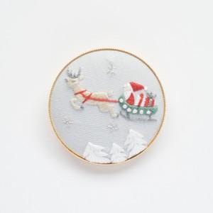 『サンタクロース』ブローチ刺繍キット【期間限定】