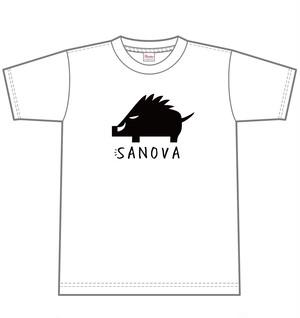Tシャツ-イノシシデザイン(やーまん着用)