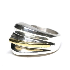 Vintage Mexican Silver & Brass Ring