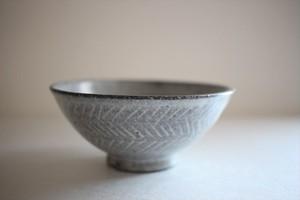 古川元吾(撫菜花工藝)|黒化粧 碗(矢羽)
