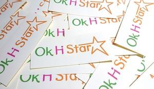 Ok Hi Star☆オリジナルロゴステッカー01