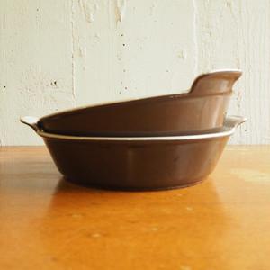 ヴィンテージ・ルクルーゼのグラタン皿 ブラウン