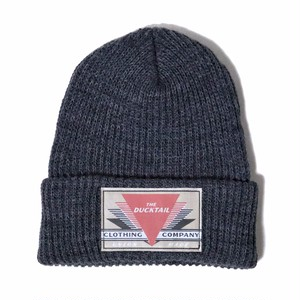 "DUCKTAIL CLOTHING KNIT CAP ""REET PETITE"" CHACOAL GRAY ダックテイル クロージング ニットキャップ"