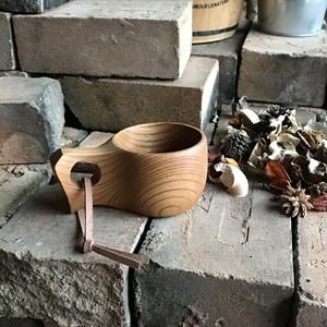 木製マグカップ 『ケヤキ』ククサ 内面漆仕上げ his-135 北欧