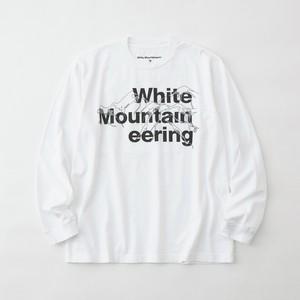 LOGO & MOUNTAIN L/S T-SHIRT - WHITE