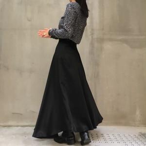 80's flare black skirt