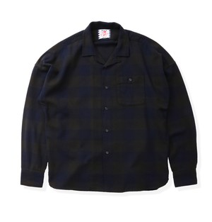 【SON OF THE CHEESE】Block shirts(NAVY)