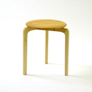 LISCIO スタックスツール(wood) (座面:チェリー, 脚:メープル)