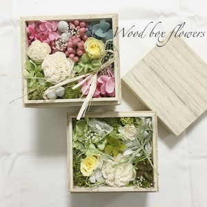 Wood box flowers(Fresh/Garden)