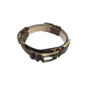 Y/PROJECT 6 BUCKLE BELT BROWN CROCODILE
