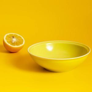 「シエル Ciel」きほんのうつわ 取り皿 とんすい 直径約14×深さ4.2cm イエロー 美濃焼 520112