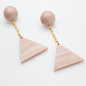 triangle chain pierce_peal pink_#008