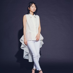 Hilo collar hc jacquard frill White
