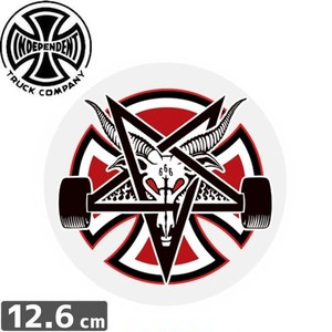 インディペンデント INDEPENDENT ステッカー INDY X THRASHER PENTAGRAM CROSS 12.6cm x 12.6cm