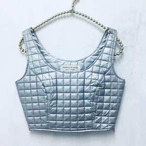 silver quilting bustier