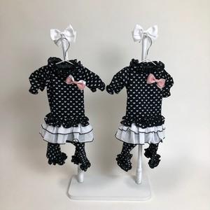 ハートブラックスカート付ワンピース(ブラックM/Lサイズ)