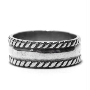Vintage Sterling Silver Mexican Rope Ring