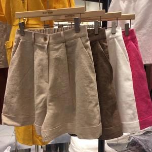 ◆予約◆linen blend short pants